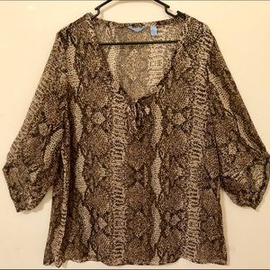 Izod blouse size XL